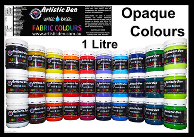 Textile Opaque Screen Print Ink Water Based 1L