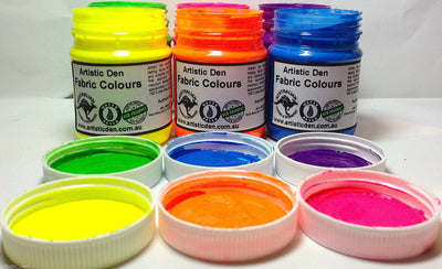 Textile UV Glow  Neon Screen Printing Ink 50ml - 20kg/L  (Free Delivery - City CBD suburbs)