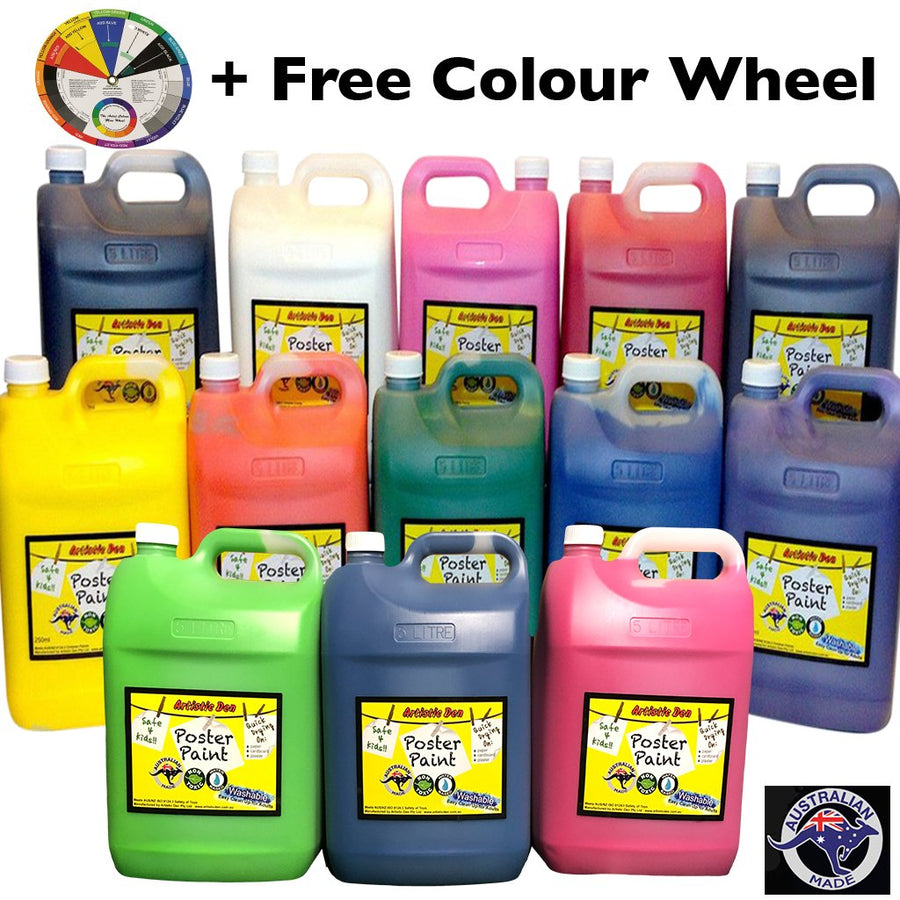 5L Washable Kids Paint Sets + Paint Pumps DIY Colours Selection