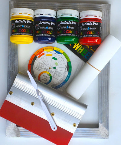 Starters Colours Fabric Screen Printing Kit