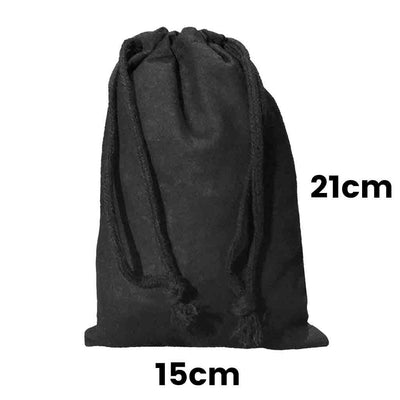 Calico Drawstring Bag Black Size 1