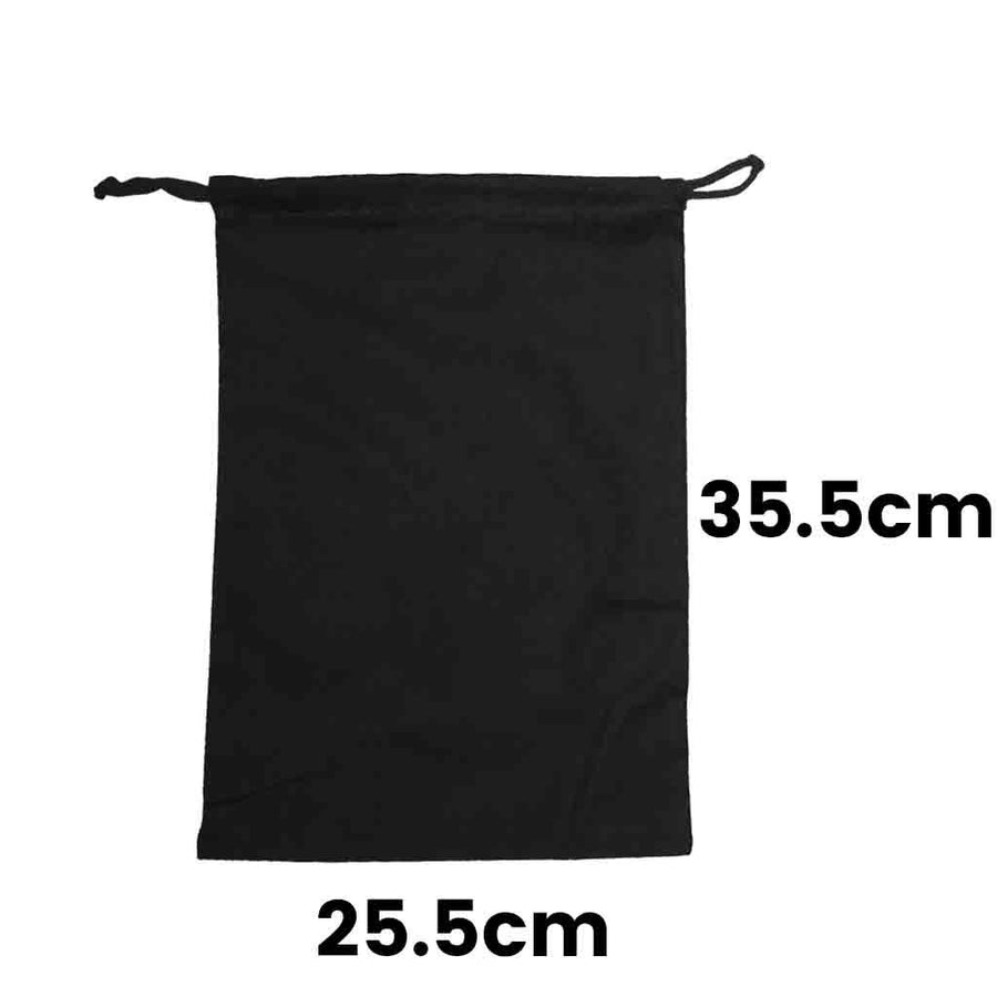 Calico Drawstring Bag Black Size 3