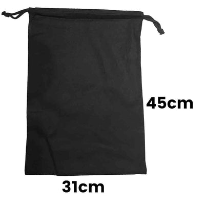 Calico Drawstring Bag Black Size  4