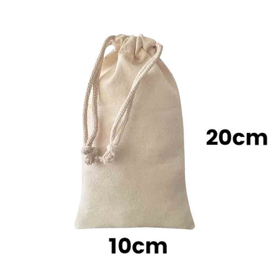 Calico Drawstring Bag Natural Size 7, 145gsm