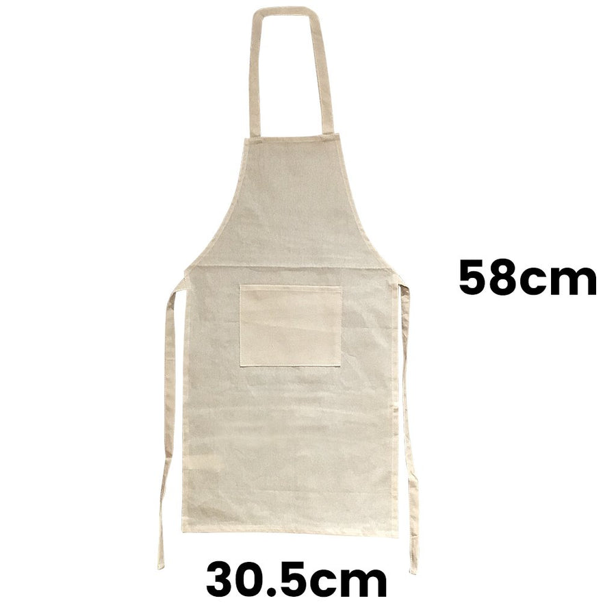 Calico Smock Kids Apron Natural