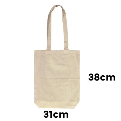 Calico Conference Promotional Shoulder Bag 1 Gusset 8cm Natural
