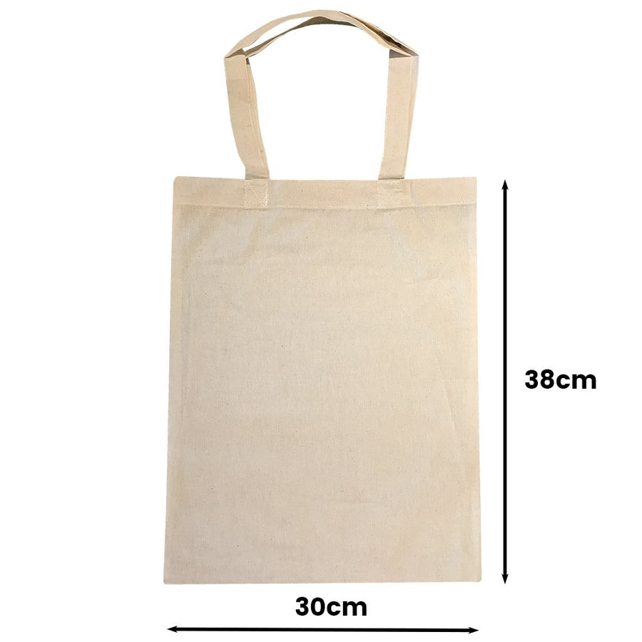 Calico Shopping Bag Natural Size 3