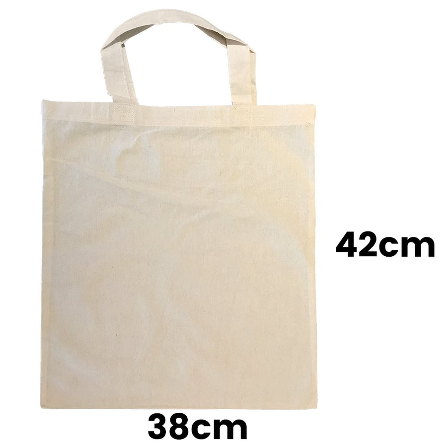 Calico Shopping Bag Natural Size 2