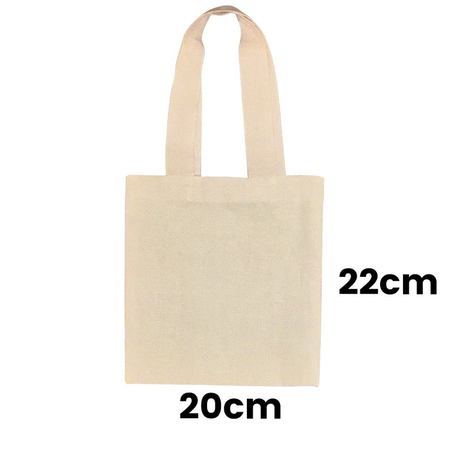 Calico Shopping Bag Natural Size 4