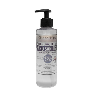Clean & Simple Alcohol Hand Gel Sanitiser 70% 250ML TO 5 Litre