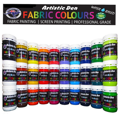 Fabric Paint 250ml - 500ml Water Based