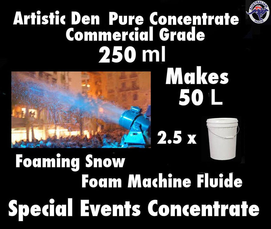 SNOW MACHINE FLUID 500ml Concentrate Makes 100 Litres Foam