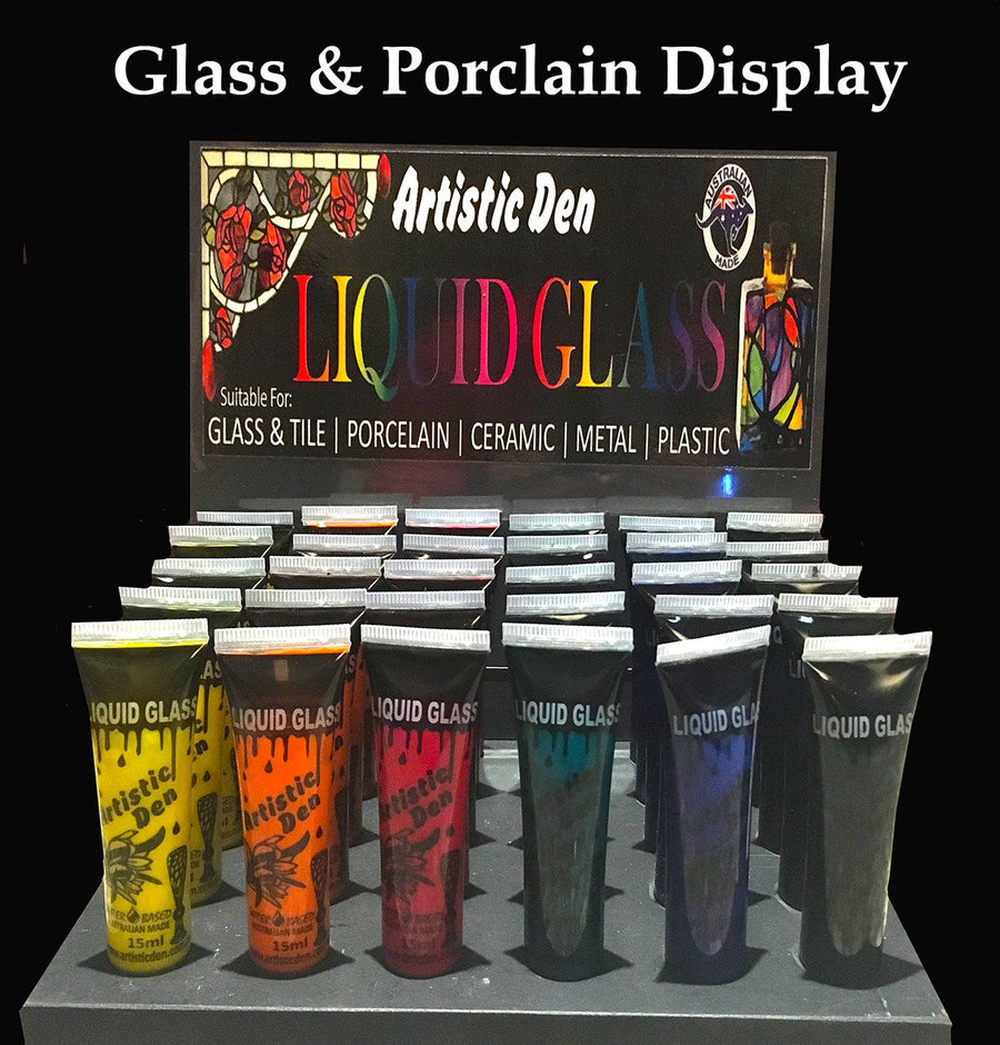 Glass Paint 30 x 15ml Tube Counter Display Stand