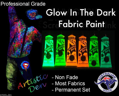 UV Neon  Glow In The Dark Screen Printing Ink Set 6 x (15ml-1L)