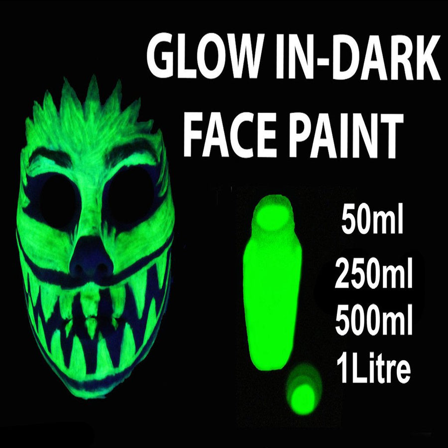 Bulk GLOW IN THE DARK Face Paint 50ml - 1 Litre