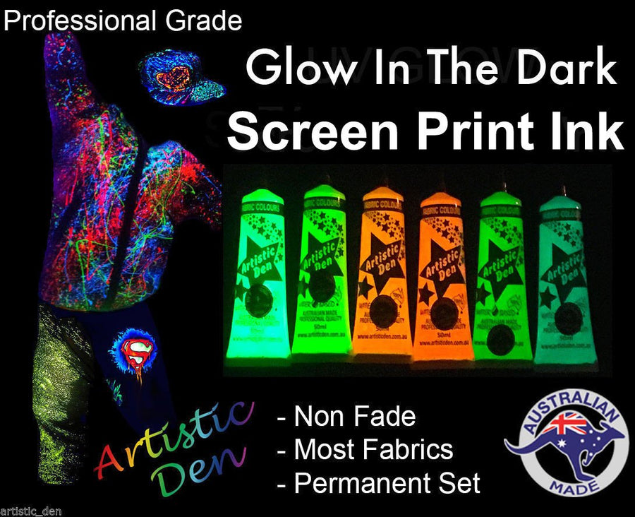 Beginners Glow In The Dark Complete Screen Printing Kit