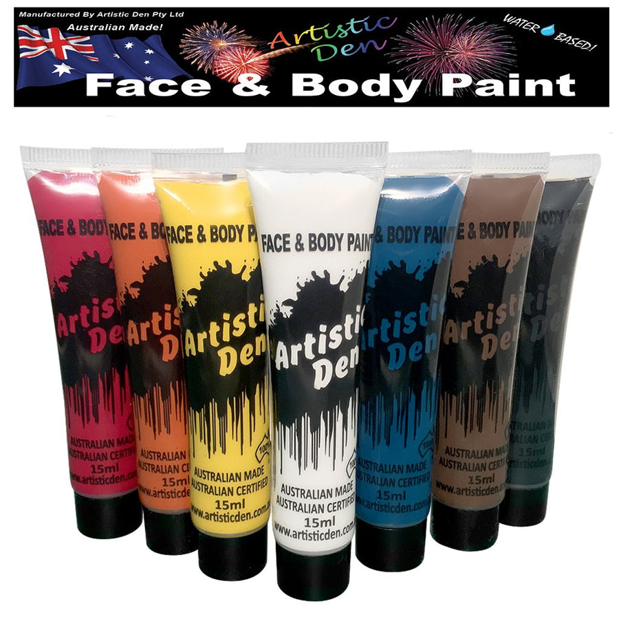 Indigenous Face Paint  Set  7 x 15ml in a  Blister Pack
