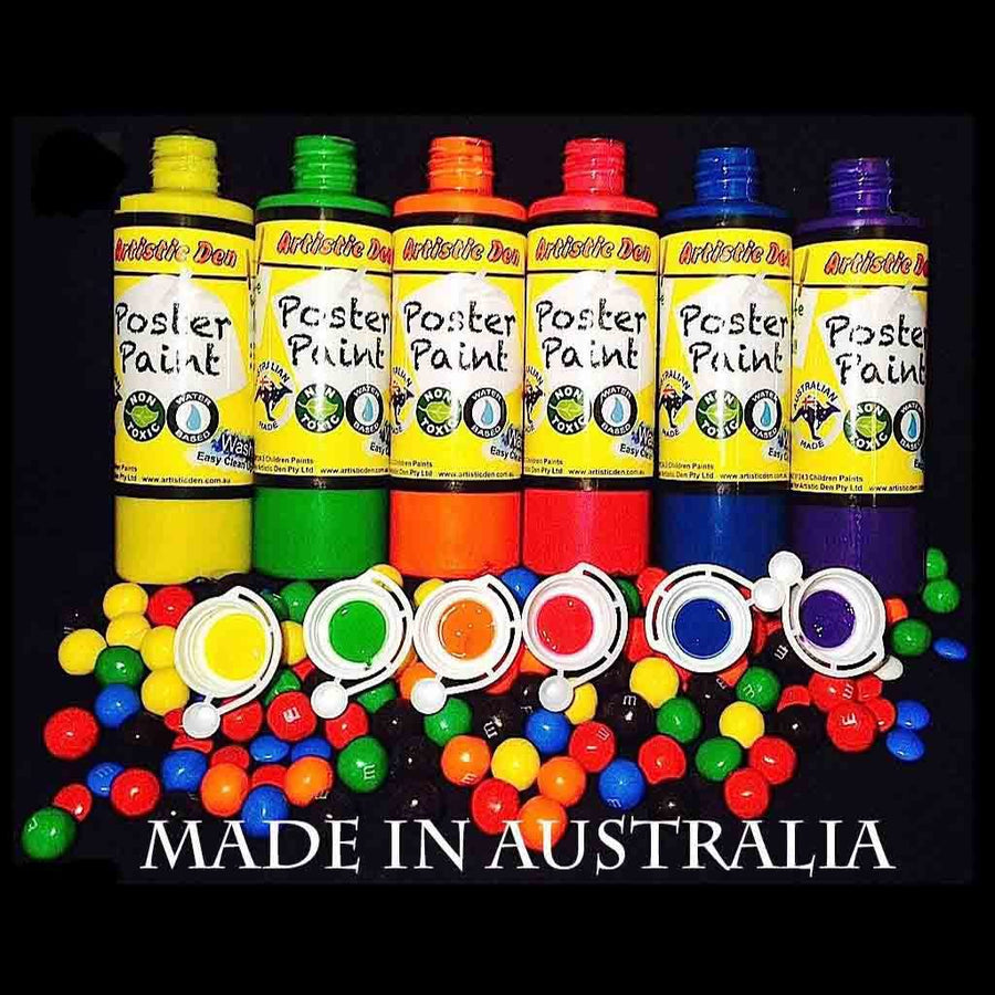 Washable Kids Paint Poster Set Candy Colours  6 x 250ml