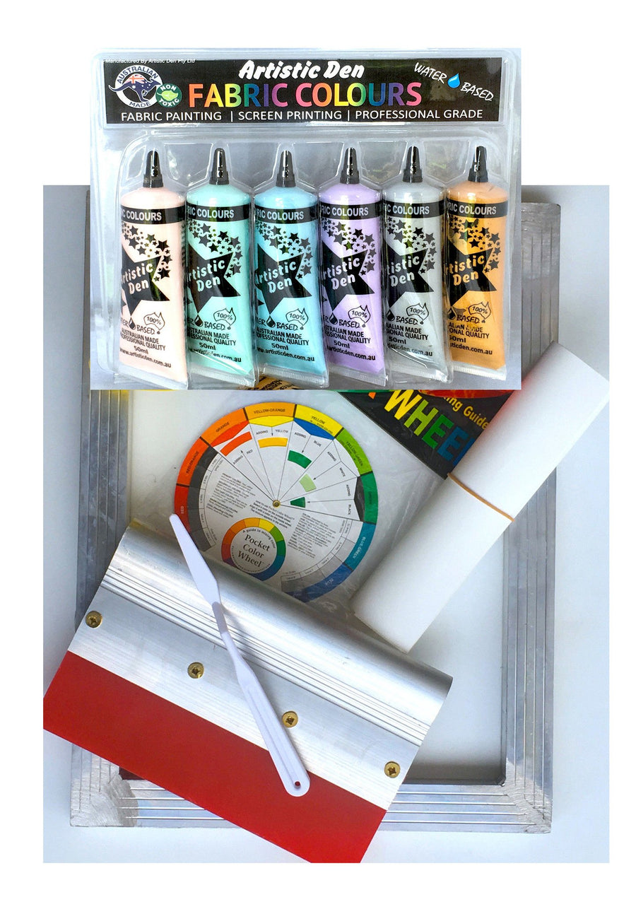 Beginners Metallic Colours Fabric Screen Printing Kit