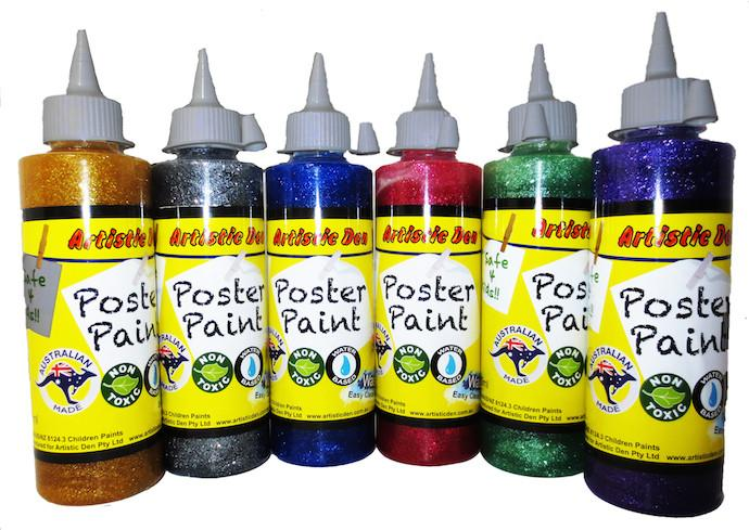 Glitter Paint Set Washable 6 x 250ml