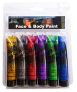 Glitter Face Paint  Set 6 x 15ml Blister Pack