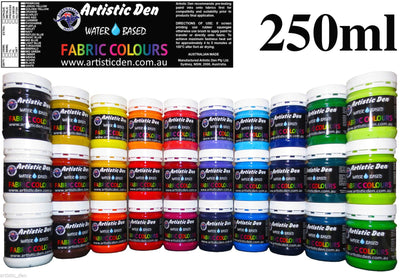Fabric Paint  Water Based 250ml -1L