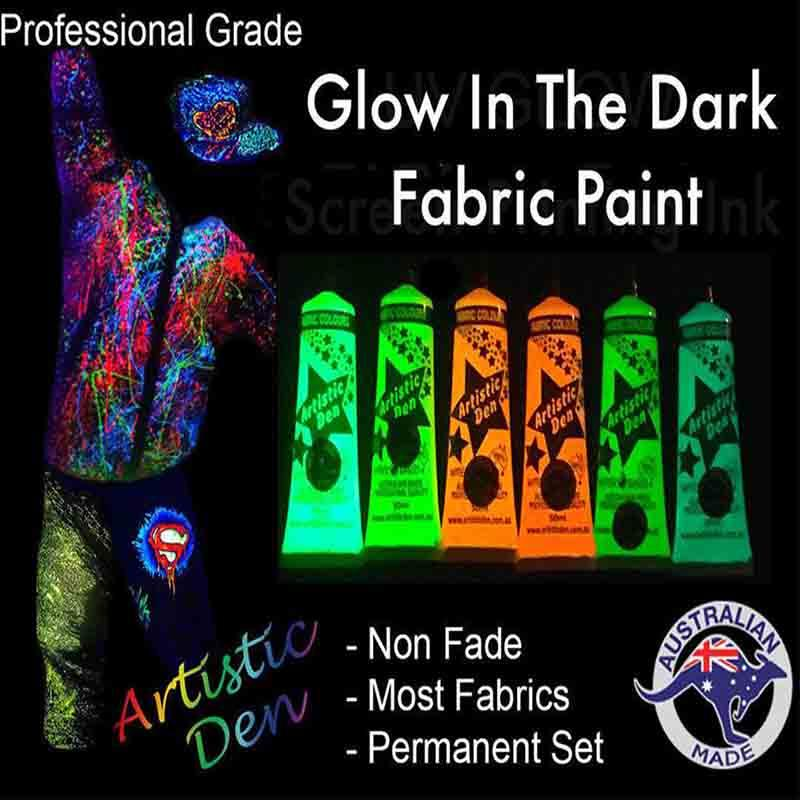 Uv Fabric Paint Kits 6 x 50ml