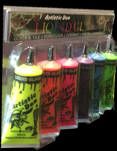 Uv Neon Glow Glass Paint Sets