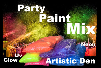 Uv Glow Party Paint Powder Mix for Paint Cannons Super Soaker Paint Gun