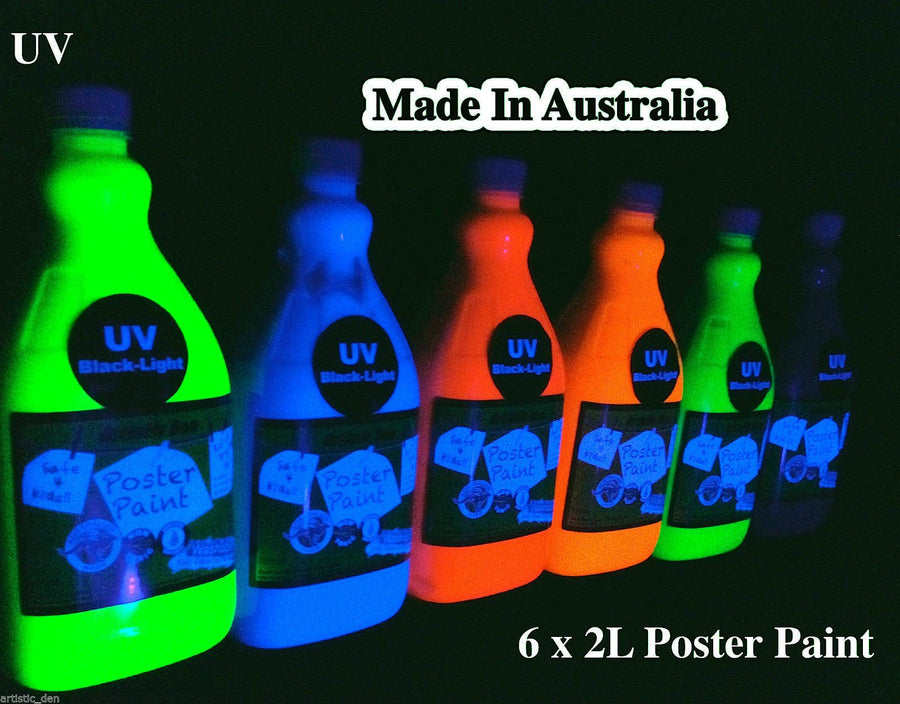 UV Glow Poster Paint Set 6 X 2L