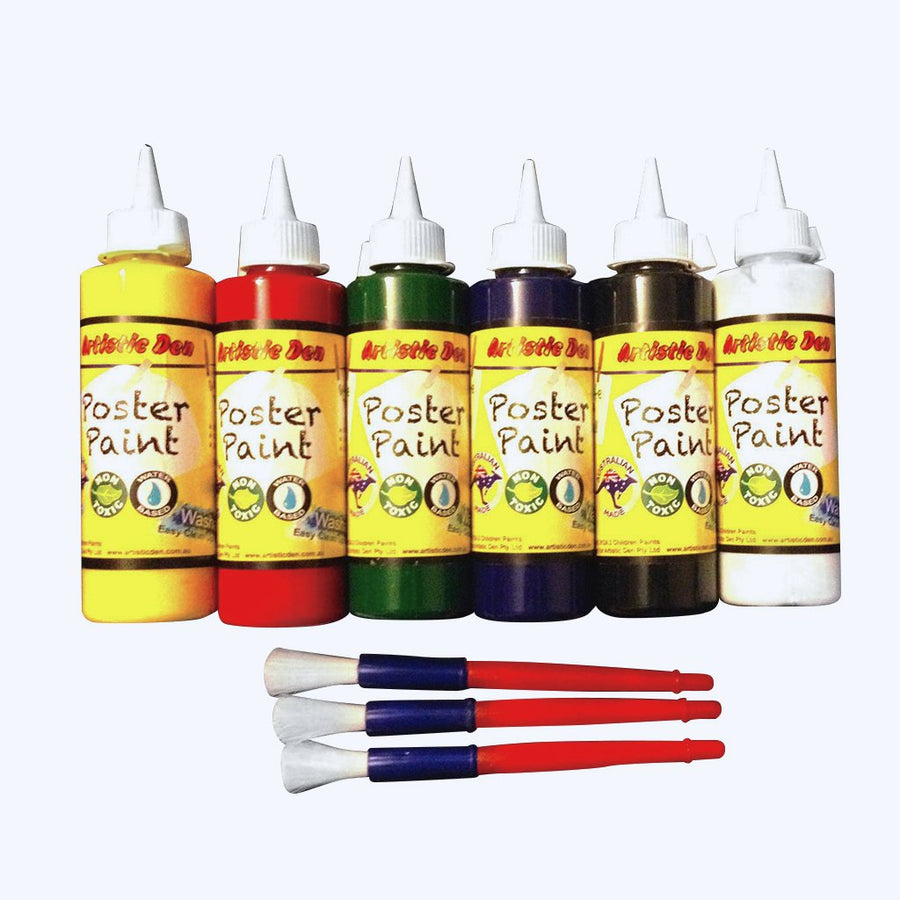 Washable Kids Paint Set 6 x 250ml
