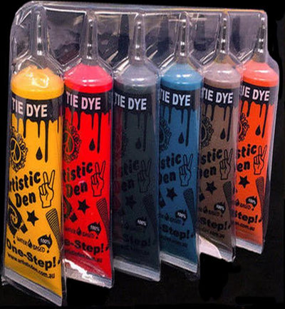 Tie Dye Sets 6 Colours - Dyes up to 20 Projects