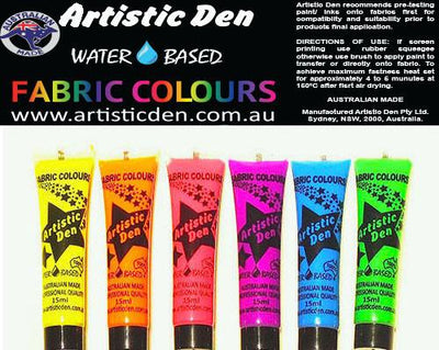 Neon Fluro Fabric Paint Set  6 x (15ml-1L)
