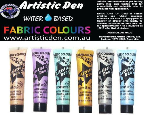 Metallic Fabric Paint Set 6 x(15ml-250ml)