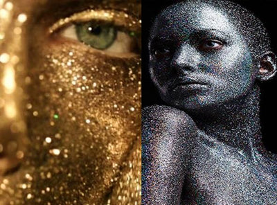 Glitter Face Paint , Gold & Silver by Artistic Den