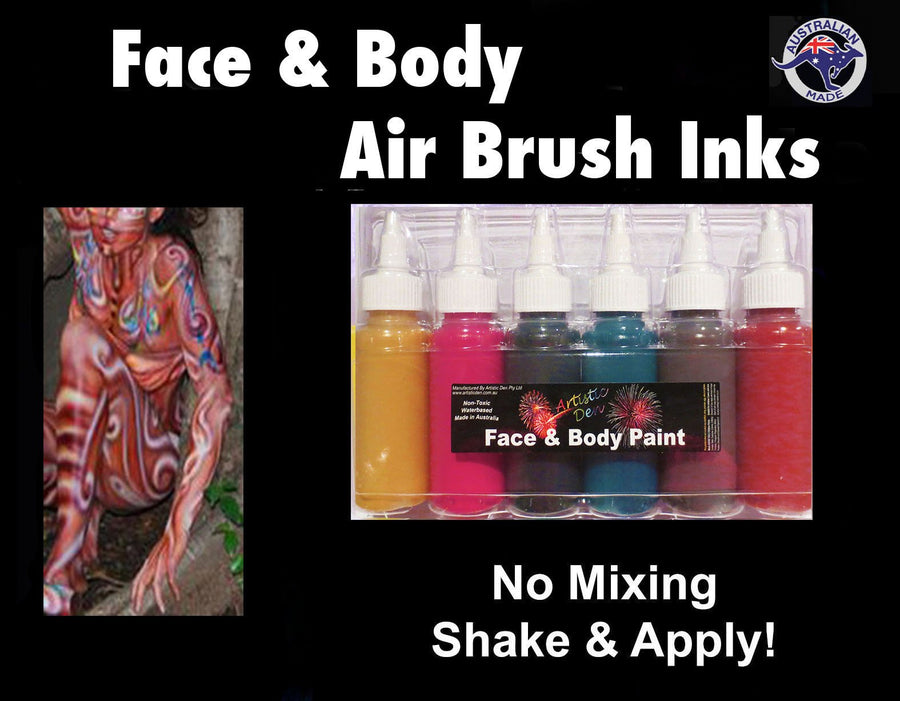 Indigenous Airbrush Face Paint Colours 6x60ml