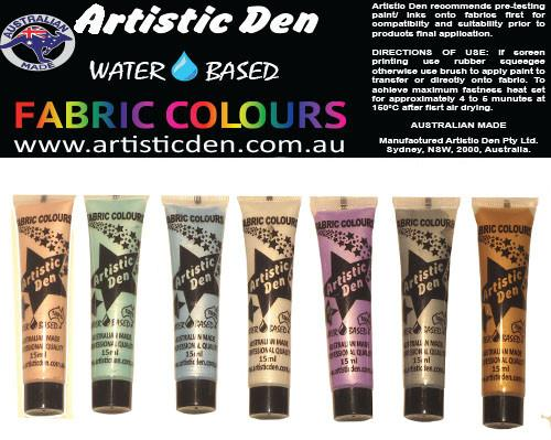 Fabric Paint Set Metallic  7 x 15ml