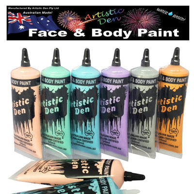 Metallic Face Paint 6 x 50ml Tubes In A Blister Pack