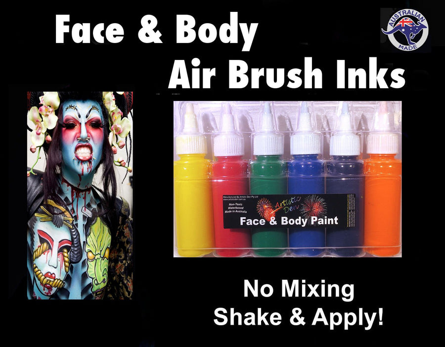 Airbrush Face Paint Set Traditional 6x50ml