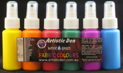 Spritz Fabric Paints Fabric Spray Paint 6 x 60ml UV Neon Sunnys Primary