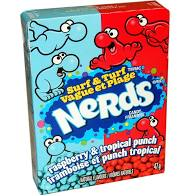 Nerds Surf & Turf Raspberry & Tropical Punch Candy 1.65oz Box