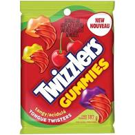 TWIZZLERS GUMMIES TANGY TONGUE TWISTERS CANDY 182G (6.4OZ) BAG