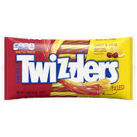 Twizzlers Filled Twists Sweet And Sour Licorice Candy - 11oz