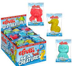 eFruitti Sea Creatures Gummi Candy (One Randomly Selected) 0.32 oz