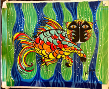 Load image into Gallery viewer, Gato Koi Painting