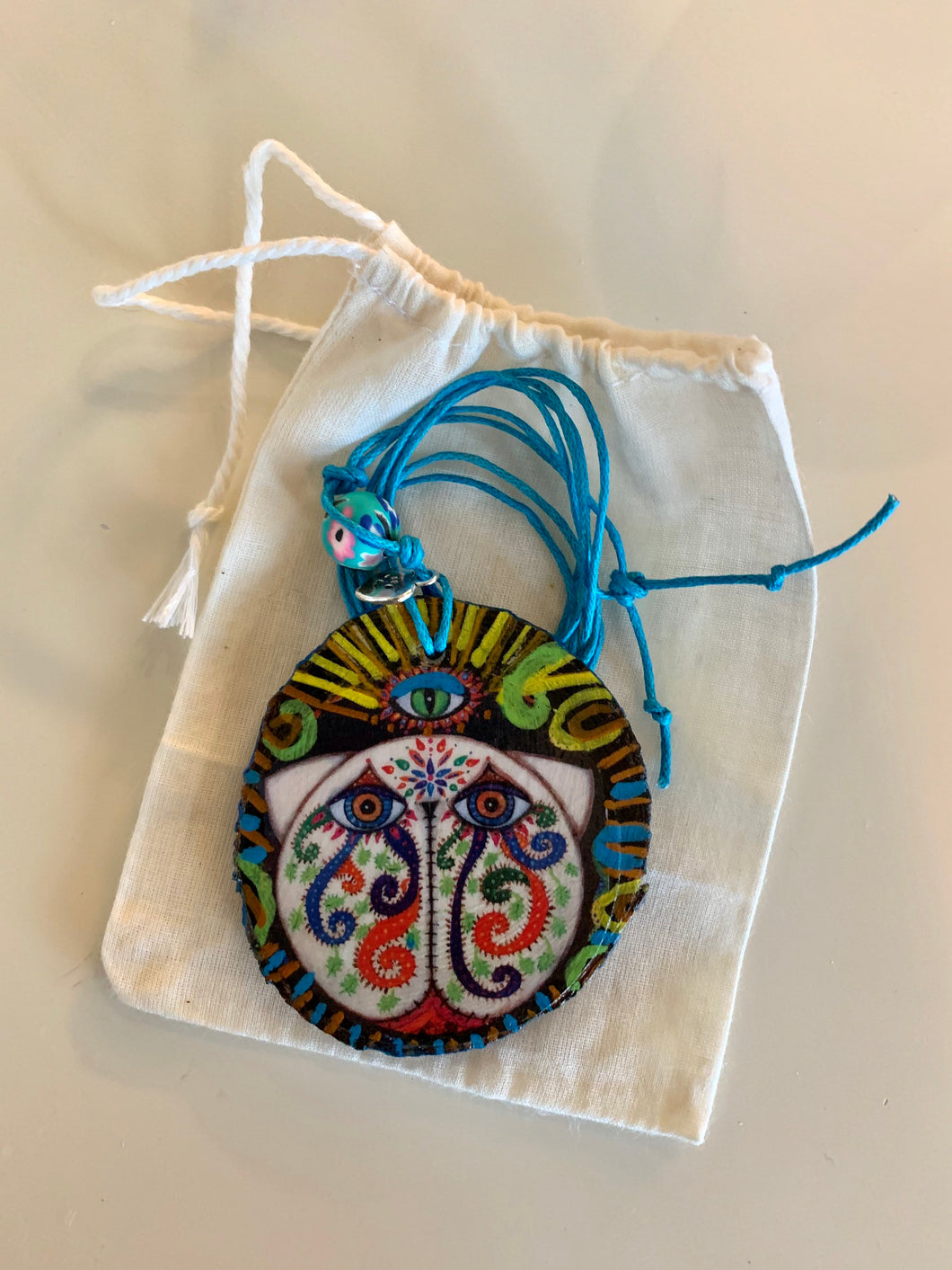 Cat Pendant Catrina Third Eye