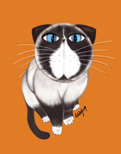 Load image into Gallery viewer, Digital Art Custom Cat Portraits on canvas