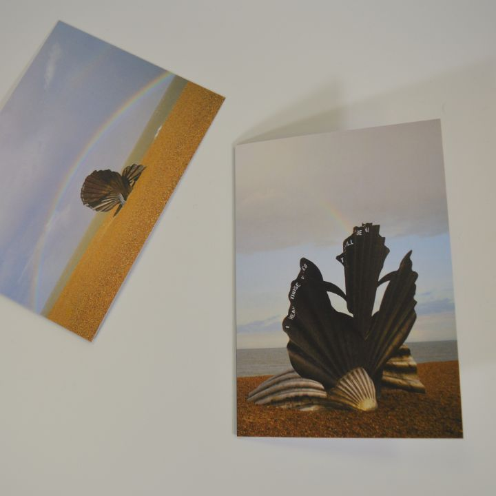 2 x Scallop Greeting Cards