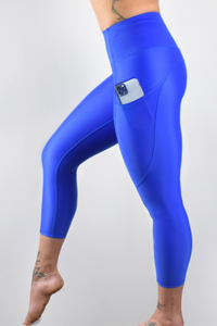 Invigorate High Waisted Cropped Running Leggings - Baltimora - LockrSpace