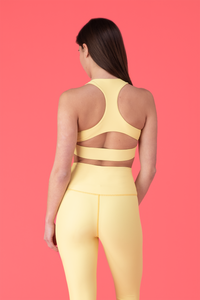 High Rise Leggings - Lemon - LockrSpace